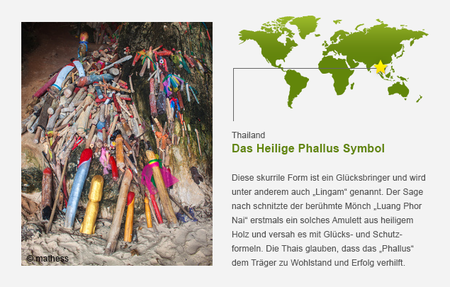 Kulturelle Phallus Symbole Penis