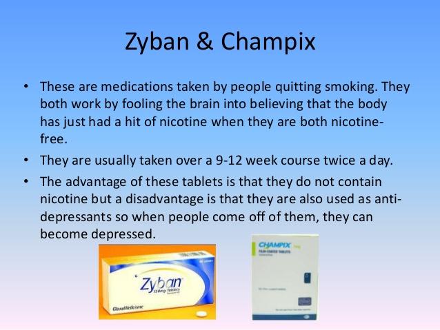 Zyban vs Champix Vergleich Infografik